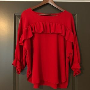 Kim & Cami Red Women's Shirt Size M